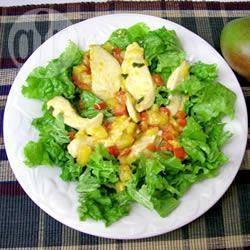 recept kip met salade
